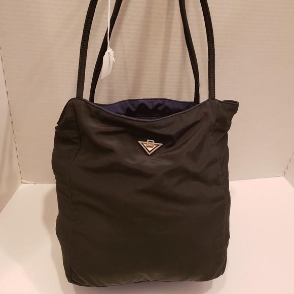 Bottega Veneta Handbags - Bottega Veneta black nylon tote